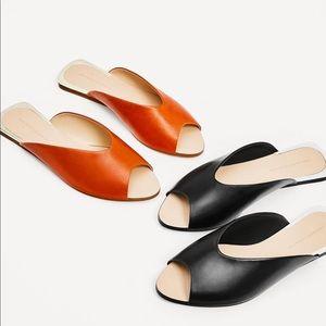 Orange Zara flats